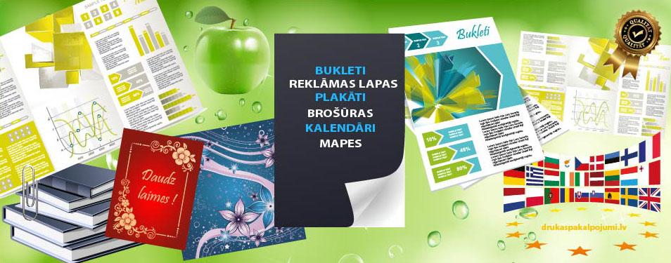 Bukleti, brošūras, plakāti, reklāma...